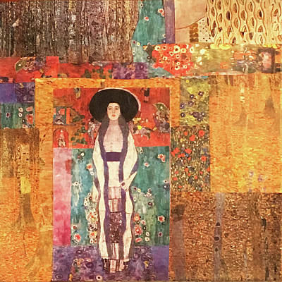 Mixed Media - A Touch Of Klimt by Judy Tolley