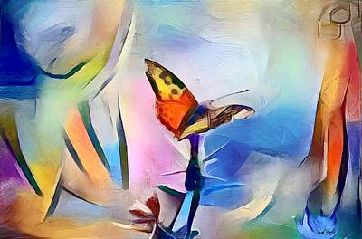 Painting - A Touch Of Modern - Butterfly World by Wayne Pascall