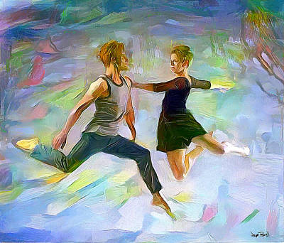 Painting - A Touch Of Modern - Dance by Wayne Pascall