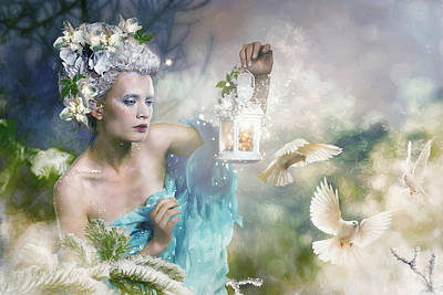 Fantasy Royalty-Free and Rights-Managed Images - A Touch of SPring by Karen Koski