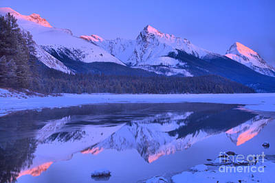 Photograph - A Touch Of Winter Peak At Jasper by Adam Jewell