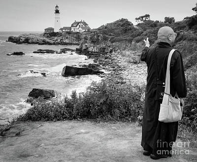 Photograph - A Tourist  -79037 by John Bald