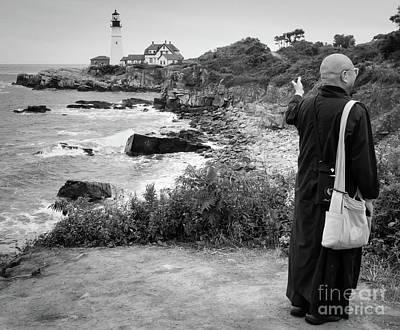 Photograph - A Tourist  -79037 by John Bald