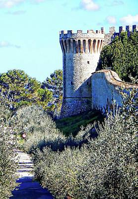 Photograph - A Tower At La Rocca Castiglione Del Lago by Dorothy Berry-Lound