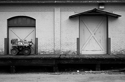 Photograph - A Tractor And A Door by Robert Meyers-Lussier
