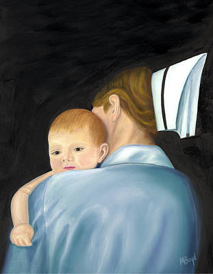 Comfort Painting - Comforting A Tradition Of Nursing by Marlyn Boyd