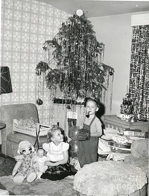 Photograph - A Traditional Christmas American Scene Early 30 50 Photograph by R Muirhead Art