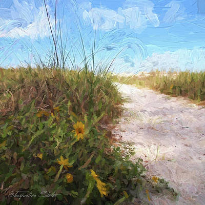 Digital Art - A Trail To The Beach by Jacqueline Sleter