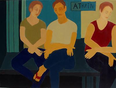 A Train Art Print by Renee Kahn