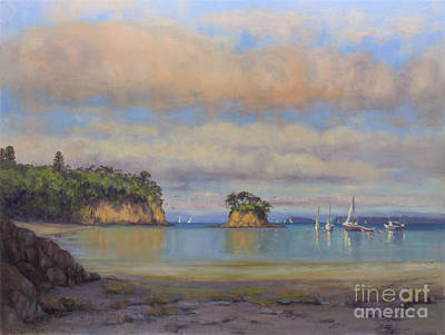 Painting - A Tranquil Evening At Waiake Beach by Kristen Olson Stone