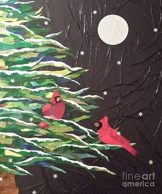 Mixed Media - A Light Snowfall by Diane Miller