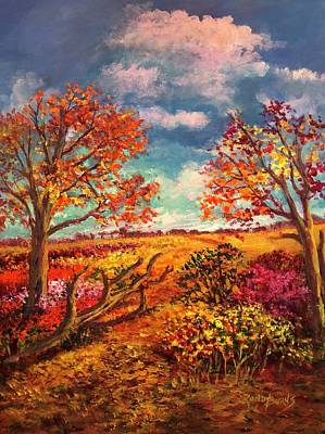 Painting - A Transient Path by Randy Burns