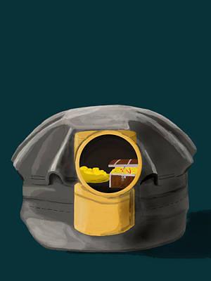 A Treasure Inside The Miners Helmet Art Print