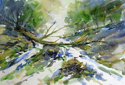 Painting - A Tree Falls by Carl Whitten