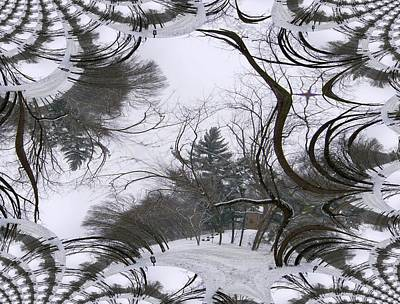 A Tree Fractal Art Print by Skyler Tipton