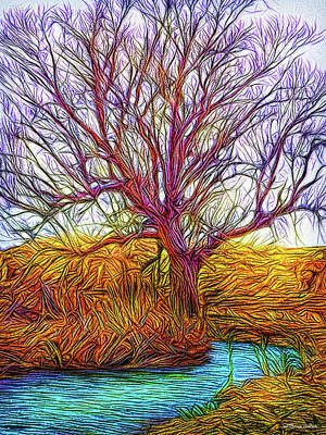 Digital Art - A Tree Greets Springtime by Joel Bruce Wallach