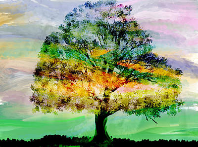 Painting - A Tree In A Meadow by Marie Jamieson