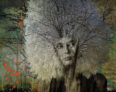 Digital Art -  A Tree In Winter by Terry Fleckney