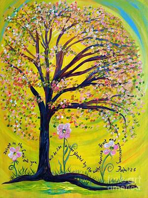 Baptist Painting - A Tree Planted By The Water by Eloise Schneider
