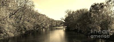 Indiana Rivers Digital Art - A Trees Thirst For Water - Sepia by Scott D Van Osdol