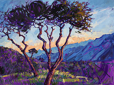 Pine Tree Painting - A Tribute by Erin Hanson