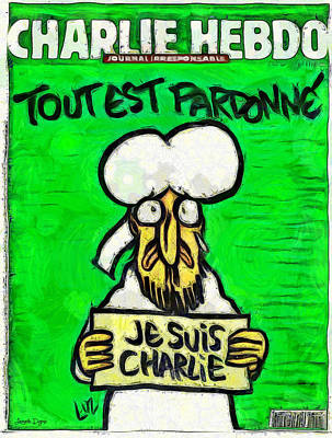 Satirical Painting - A Tribute For Charlie Hebdo by Leonardo Digenio