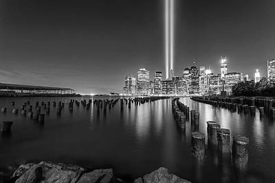 9 11 01 Photograph - A Tribute In Lights - 2012 by Michelle Neacy