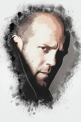 Digital Art - A Tribute To Jason Statham by Dusan Naumovski