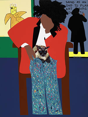 Painting - A Tribute To Jean-michel Basquiat by Synthia SAINT JAMES