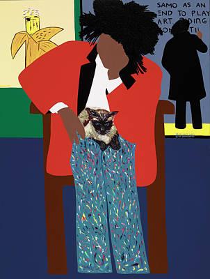 A Tribute To Jean-michel Basquiat Art Print