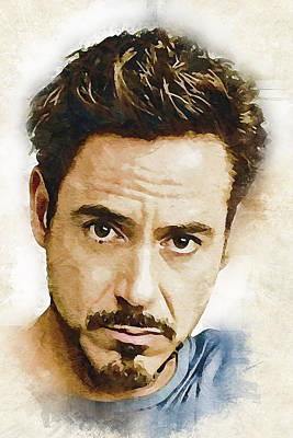 A Tribute To Robert Downey Jr. Art Print