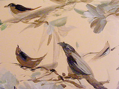 Painting - A Trio Of Song by Nancy Kane Chapman