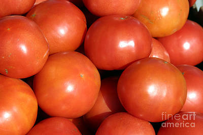 A Trip Through A Farmers Market Featuring Tomatoes Art Print by Michael Ledray
