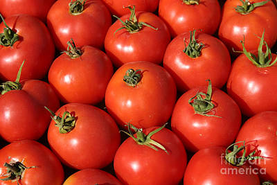 A Trip Through The Farmers Market With Red Tomatoes Art Print by Michael Ledray