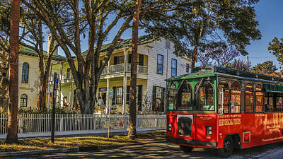 Photograph - A Trolley Ride Through Fernandina by Paula Porterfield-Izzo