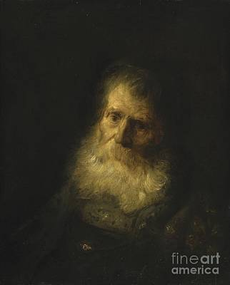 A Tronie The Head And Shoulders Of An Old Bearded Man Art Print