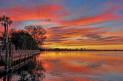 Photograph - A Tropical Florida Sunset by HH Photography of Florida