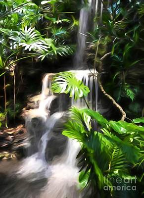 Photograph - A Tropical Waterfall by Mel Steinhauer