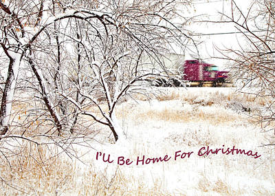 Photograph - A Trucker's Christmas Card by Theresa Tahara