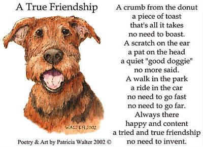 Mixed Media - A True Friendship by Patricia Walter