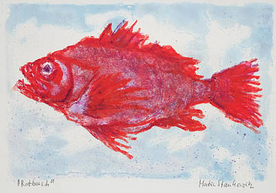 Painting - A Truly Red Snapper, Seafood by Martin Stankewitz