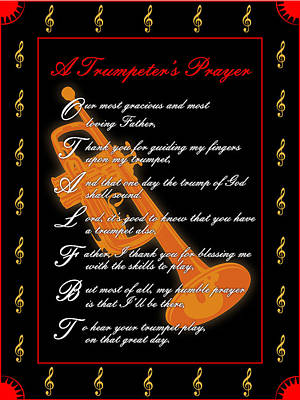 A Trumpeters Prayer_1 Art Print by Joe Greenidge