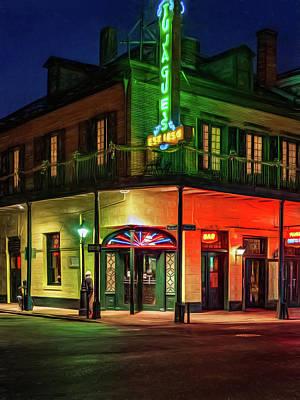 New Orleans Oil Photograph - A Tujagues Night Paint by Steve Harrington