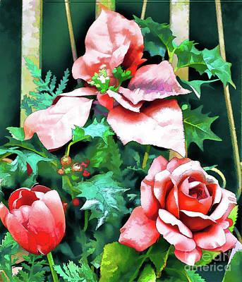 Photograph - A Tulip A Rose A Poinsettia by Dan Carmichael