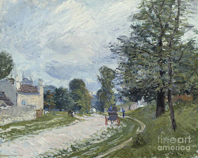 Nineteenth Century Painting - A Turn In The Road by Alfred Sisley