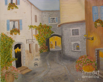 Painting - A Tuscany Village Italy by Rod Jellison