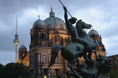 A Twilight View Of The Berlin Cathedral Art Print by Jim Webb