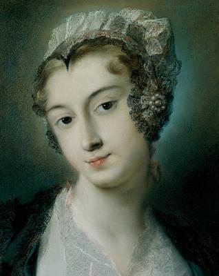 Venetian Art Pastel - A Tyrolean Innkeeper by Rosalba Carriera