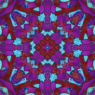 Digital Art - A U G -month- -pattern- by Coded Images