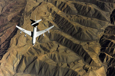 Afghanistan Photograph - A U.s. Air Force E-3 Sentry Aircraft by Stocktrek Images